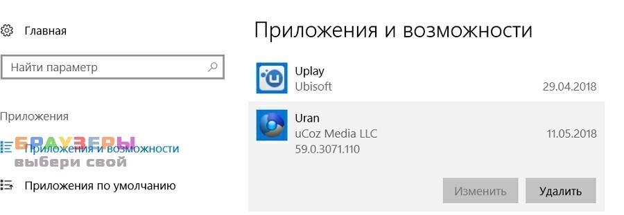 Браузер Uran Portable